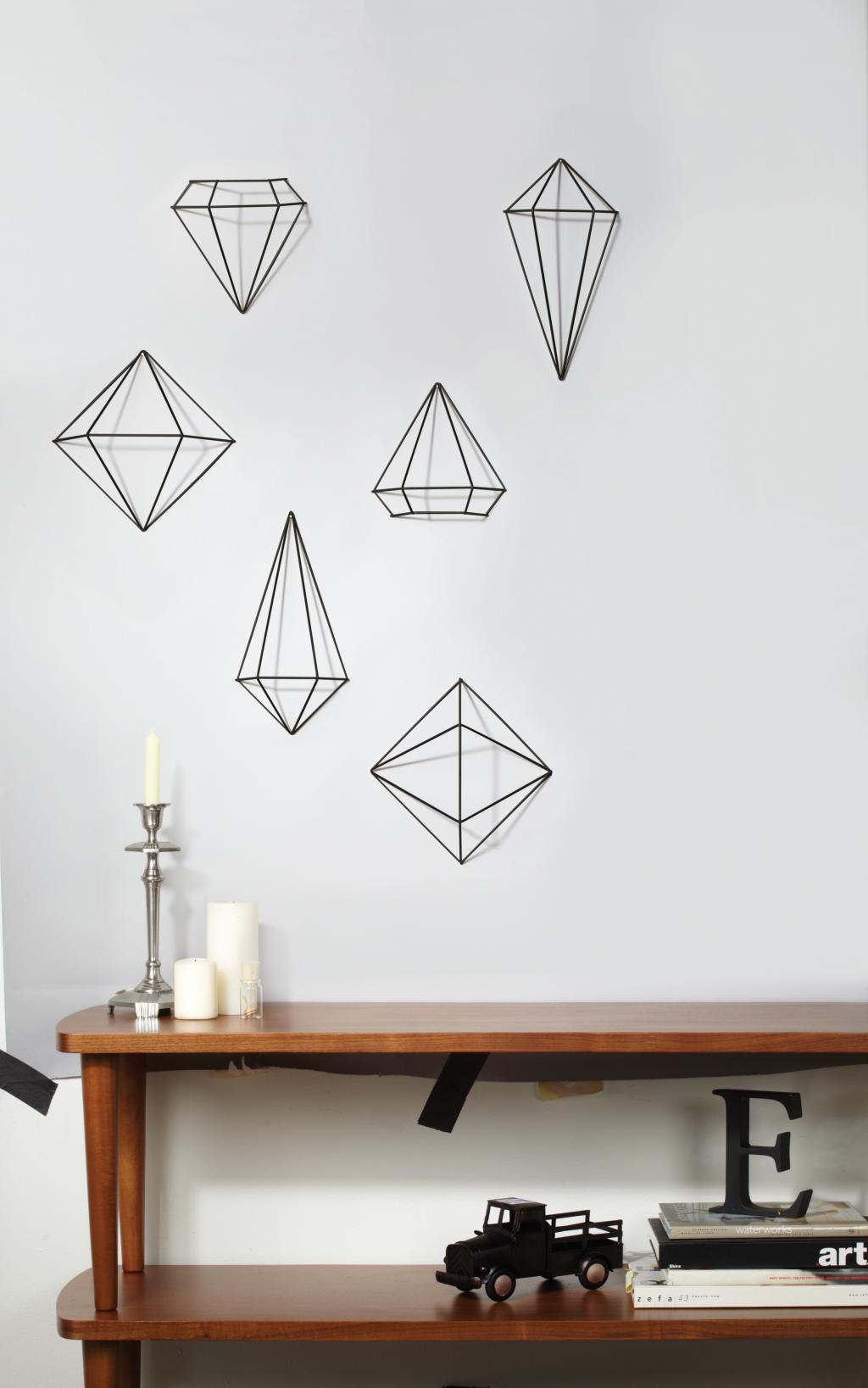wanddecoratie prisma zwart umbra lilnl
